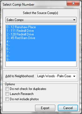 Select a Comp
